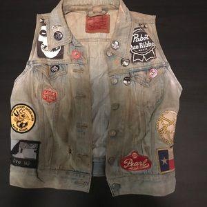 Levi's jean denim vest jacket size small